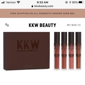 KKW x kylie cosmetics lip collection